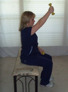 Arm Exercises with dumbbell